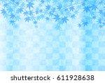maple summer japanese paper... | Shutterstock .eps vector #611928638