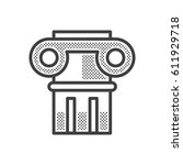 ancient columns icon  | Shutterstock .eps vector #611929718