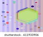 diamond art template | Shutterstock .eps vector #611933906