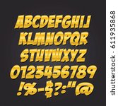 comics metal gold letters style ...