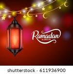 ramadan kareem muslim greetings ... | Shutterstock .eps vector #611936900