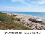 chiclana beach | Shutterstock . vector #611948750