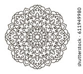 mandala. ethnic decorative... | Shutterstock .eps vector #611949980
