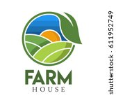 farm house concept logo full... | Shutterstock .eps vector #611952749