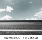 asphalt road and sky cloud... | Shutterstock . vector #611955560