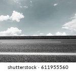 asphalt road and sky cloud...   Shutterstock . vector #611955560