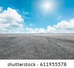 asphalt road and sky cloud... | Shutterstock . vector #611955578