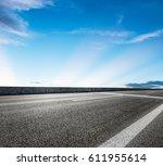 asphalt road and sky cloud... | Shutterstock . vector #611955614