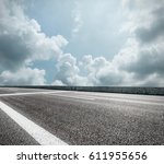 asphalt road and sky cloud...   Shutterstock . vector #611955656