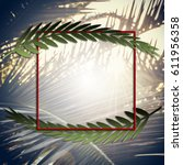 Palm Sunday Square Illustratio...
