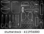 set for baking. for the... | Shutterstock . vector #611956880