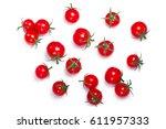 tiny cherry tomatoes  ciliegini ... | Shutterstock . vector #611957333