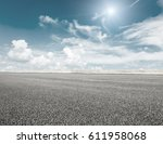 asphalt road and sky cloud... | Shutterstock . vector #611958068