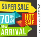 super sale vector | Shutterstock .eps vector #611962463
