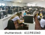 staff training at the... | Shutterstock . vector #611981060