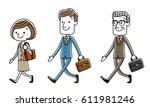 job  walking  set | Shutterstock .eps vector #611981246