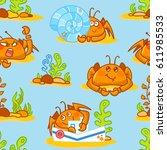 vector seamless pattern ...   Shutterstock .eps vector #611985533