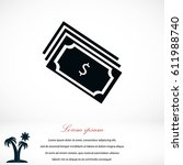 money icon vector  flat design... | Shutterstock .eps vector #611988740