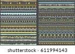 ribbons  borders  dividers ... | Shutterstock .eps vector #611994143