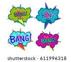wow comic sound effect in pop... | Shutterstock .eps vector #611996318