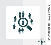 people search icon. customer... | Shutterstock .eps vector #611999078