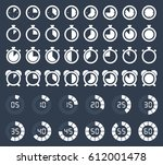stopwatch and timer icons ... | Shutterstock .eps vector #612001478