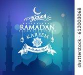 ramadan kareem greeting design... | Shutterstock .eps vector #612003068