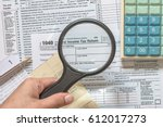 usa tax day and financial... | Shutterstock . vector #612017273