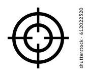 vector crosshair target icon | Shutterstock .eps vector #612022520