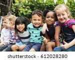 group of kindergarten kids... | Shutterstock . vector #612028280