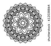 flower mandala vector...   Shutterstock .eps vector #612038864