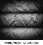 a close up of blue waterproof... | Shutterstock . vector #612050600