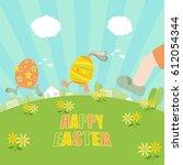 Easter Eggs Running Away From ...