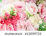 blurry.flower in wedding | Shutterstock . vector #612059723