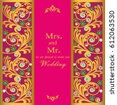 vintage invitation and wedding... | Shutterstock .eps vector #612063530