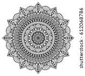 flower mandalas. vintage... | Shutterstock .eps vector #612068786