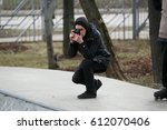 moscow   25 march 2017  young... | Shutterstock . vector #612070406