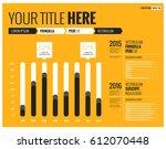 minimalist bar graph template... | Shutterstock .eps vector #612070448