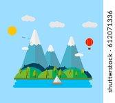 summer landscape.travel...   Shutterstock .eps vector #612071336