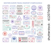 bitmap western europe colour... | Shutterstock . vector #612076433