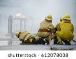 basic fire fighting and... | Shutterstock . vector #612078038