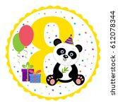 birthday party invitation card... | Shutterstock .eps vector #612078344