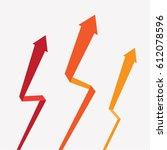 arrow design set for... | Shutterstock .eps vector #612078596