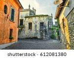 old street in the italian town...   Shutterstock . vector #612081380