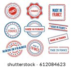 set of various made in france... | Shutterstock .eps vector #612084623