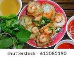 vietnamese shrimp small pankace ... | Shutterstock . vector #612085190