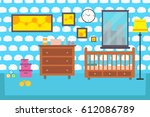 baby room bedroom child... | Shutterstock .eps vector #612086789