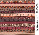 tribal multicolor seamless... | Shutterstock .eps vector #612093080