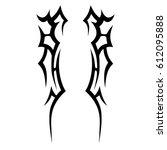 tattoo sketch tribal vector... | Shutterstock .eps vector #612095888