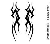 tattoo sketch tribal vector... | Shutterstock .eps vector #612095954